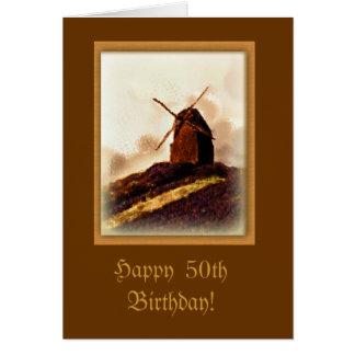 Tarjeta de cumpleaños de encargo del molino de