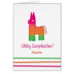 Tarjeta de cumpleaños de Feliz Cumpleaños Piñata