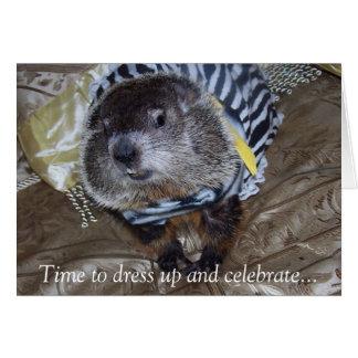 Tarjeta de cumpleaños de Groundhog Maude
