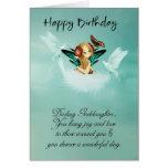 Tarjeta de cumpleaños de hadas de la ahijada con l