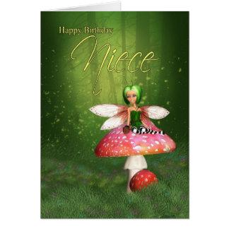 Tarjeta de cumpleaños de hadas de la sobrina - arb