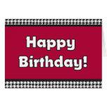 Tarjeta de cumpleaños de Houndstooth