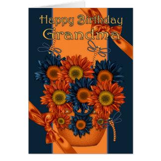 Tarjeta de cumpleaños de la abuela - girasol y lib