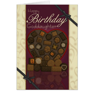 Tarjeta de cumpleaños de la ahijada - chocolates