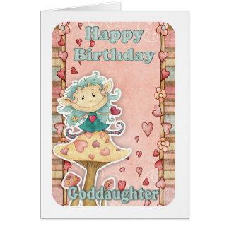 tarjeta de cumpleaños de la ahijada con el pequeño