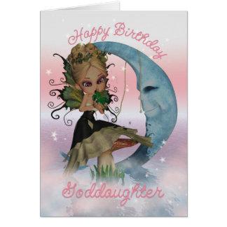 Tarjeta de cumpleaños de la ahijada con la hada li