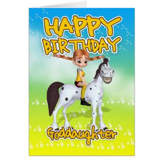 Tarjeta de cumpleaños de la ahijada - empanada