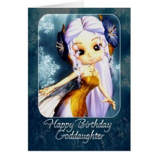 Tarjeta de cumpleaños de la ahijada - hada azul li