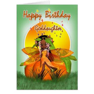 Tarjeta de cumpleaños de la ahijada - hada de la f