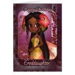 Tarjeta de cumpleaños de la ahijada - hada rosada