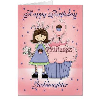 Tarjeta de cumpleaños de la ahijada - princesa de
