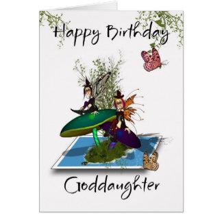 Tarjeta de cumpleaños de la ahijada - SP gótico li