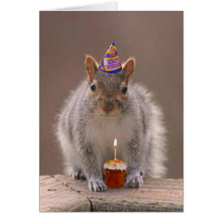Tarjeta de cumpleaños de la ardilla