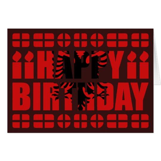 Tarjeta de cumpleaños de la bandera de Albania