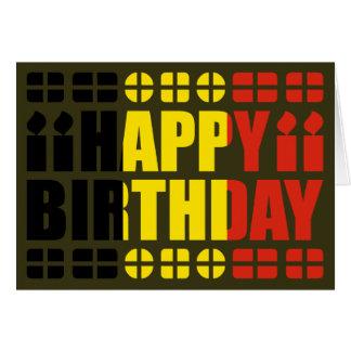Tarjeta de cumpleaños de la bandera de Bélgica