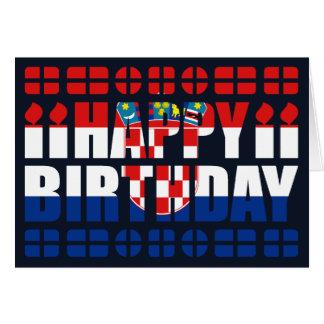 Tarjeta de cumpleaños de la bandera de Croacia