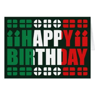 Tarjeta de cumpleaños de la bandera de Italia