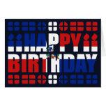 Tarjeta de cumpleaños de la bandera de la Repúblic