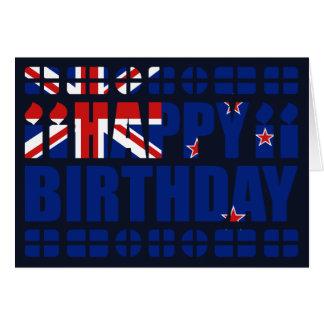 Tarjeta de cumpleaños de la bandera de Nueva
