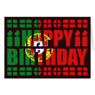 Tarjeta de cumpleaños de la bandera de Portugal