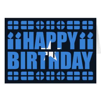 Tarjeta de cumpleaños de la bandera de Somalia