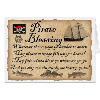 Tarjeta de cumpleaños de la bendición del pirata