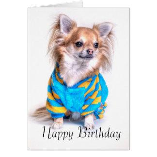 Tarjeta de cumpleaños de la chihuahua
