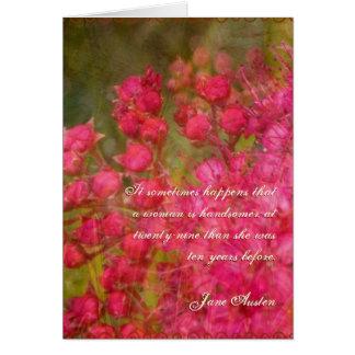 Tarjeta de cumpleaños de la cita de Jane Austen