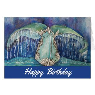 Tarjeta de cumpleaños de la cola de la ballena