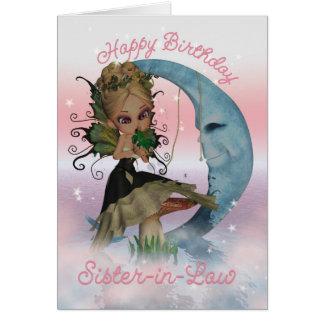 Tarjeta de cumpleaños de la cuñada con la feria li