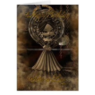 Tarjeta de cumpleaños de la cuñada Steampunk Mooni
