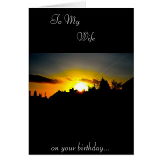 Tarjeta de cumpleaños de la esposa