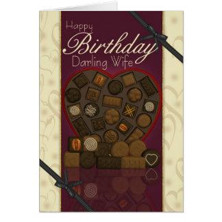 Tarjeta de cumpleaños de la esposa - chocolates