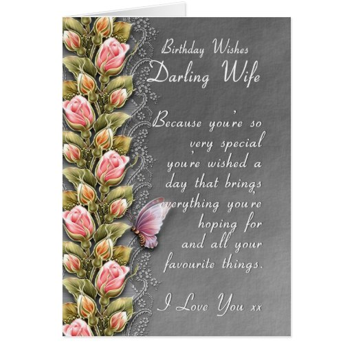 tarjeta de cumpleaños de la esposa - tarjeta de cu