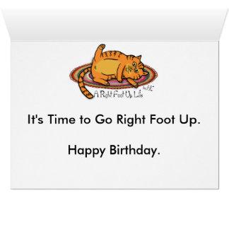 Tarjeta de cumpleaños de la estrella del rock del