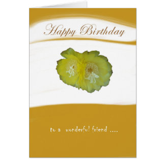 Tarjeta de cumpleaños de la flor tarjeta de felicitación