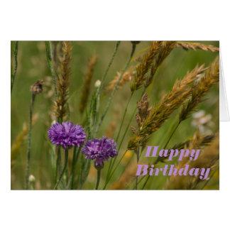 tarjeta de cumpleaños de la flor con bendiciones