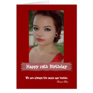 Tarjeta Tarjeta de cumpleaños de la foto de la edad