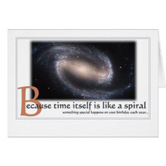 Tarjeta de cumpleaños de la galaxia espiral -
