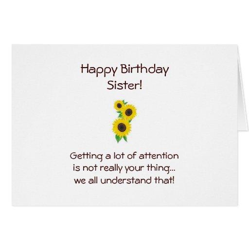 Tarjeta de cumpleaños de la hermana