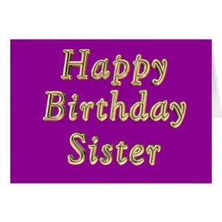 Tarjeta de cumpleaños de la hermana del feliz cump