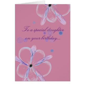Tarjeta de cumpleaños de la hija con arte de la