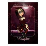 Tarjeta de cumpleaños de la hija - gótico de la mu