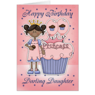 Tarjeta de cumpleaños de la hija - princesa de la