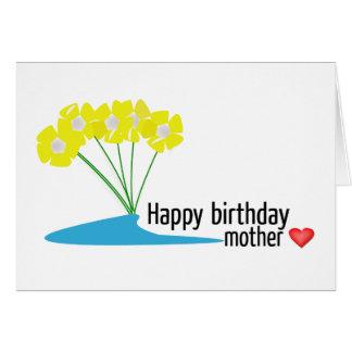 Tarjeta de cumpleaños de la madre del feliz cumple
