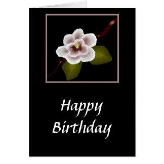 Tarjeta de cumpleaños de la magnolia (ampliación