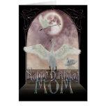 Tarjeta de cumpleaños de la mamá - cisnes