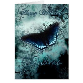 Tarjeta de cumpleaños de la mariposa de la abuela