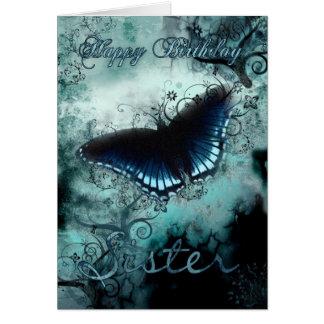 Tarjeta de cumpleaños de la mariposa de la hermana