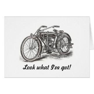 Tarjeta de cumpleaños de la motocicleta